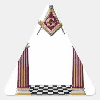 Masonic Pillars Triangle Sticker