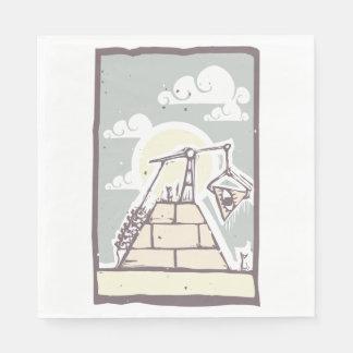 Masonic Pyramid Paper Napkins