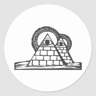 Masonic Pyramids Classic Round Sticker