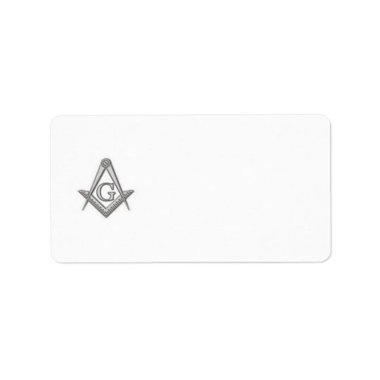 Masonic return address label