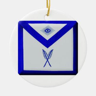 Masonic Secretary Apron Ceramic Ornament
