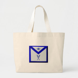 Masonic Secretary Apron Large Tote Bag
