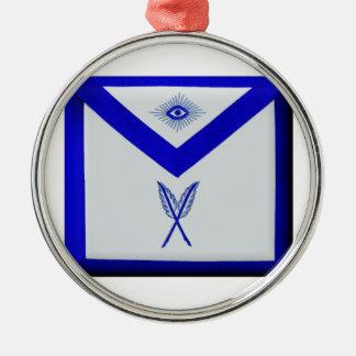 Masonic Secretary Apron Metal Ornament