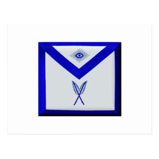 Masonic Secretary Apron Postcard