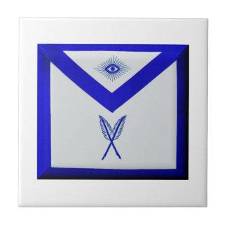 Masonic Secretary Apron Tile