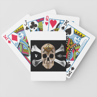 Masonic Skull & Bones Compass Square Bicycle Playing Cards