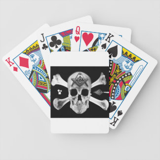 Masonic Skull & Bones, Square and Compass, Trowel, Bicycle Playing Cards