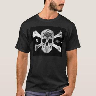Masonic Skull & Bones, Square and Compass, Trowel, T-Shirt