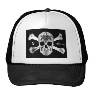 Masonic Skull & Bones, Square and Compass, Trowel, Trucker Hat