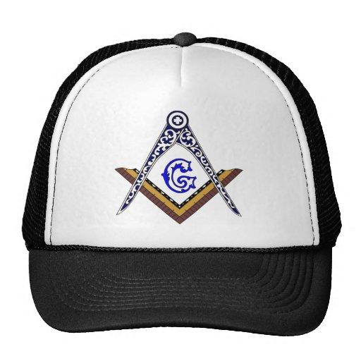 Masonic Square and Compass Mesh Hats