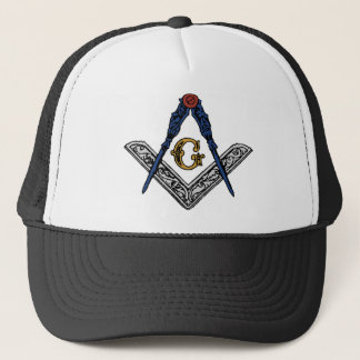 Masonic Square and Compass Trucker Hat