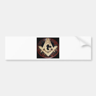 Masonic Square and Compass working tools Bumper Sticker