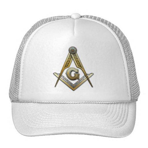 Masonic Square and Compasses Mesh Hats
