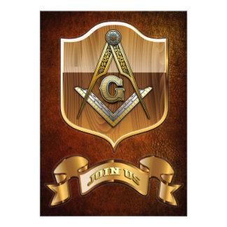 Masonic Square and Compasses Announcement