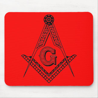 Masonic Square and Compasses Mouse Pad