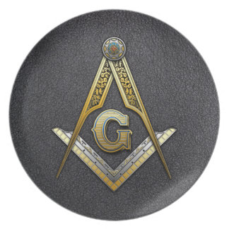 Masonic Square and Compasses Plates