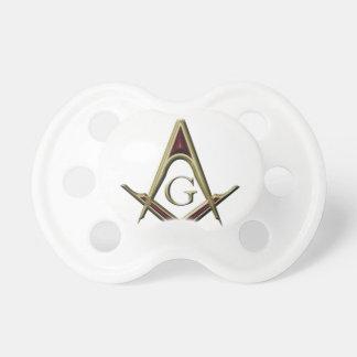 Masonic Square & Compass Pacifier