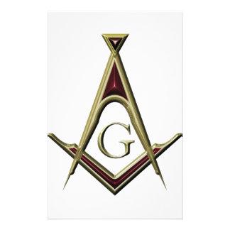 Masonic Square & Compass Stationery