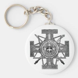 masonic symbols keychain