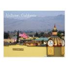 Masonic Temple Clock Tower in Hollister, CA Postcard