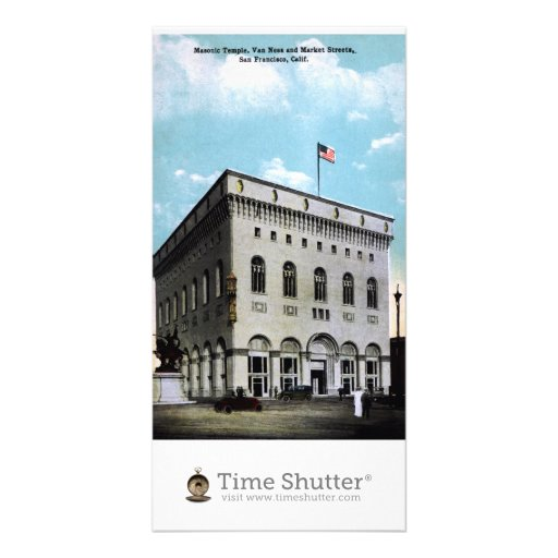 Masonic Temple Personalized Photo Card