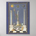 Masonic Tracing Board - Entered Apprentice 3 Poster