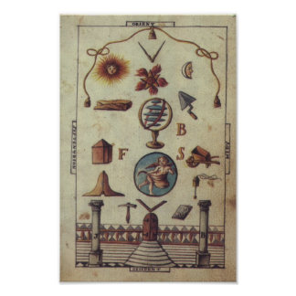 Masonic Tracing Board - Entered Apprentice 4 Poster