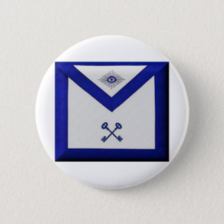 Masonic Treasurer Apron 2 Inch Round Button