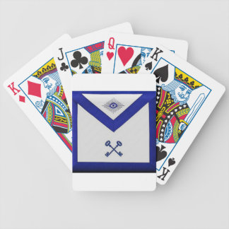Masonic Treasurer Apron Bicycle Playing Cards