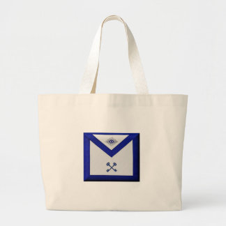 Masonic Treasurer Apron Large Tote Bag