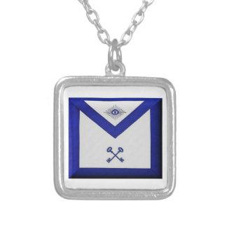 Masonic Treasurer Apron Silver Plated Necklace