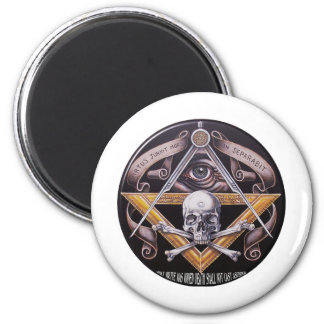 Masonic Virtue 2 Inch Round Magnet