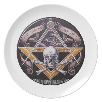 Masonic Virtue Dinner Plates