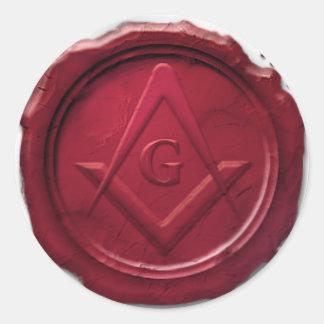 masonic-wax-seal.png classic round sticker
