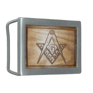 Masonic wooden design belt buckles
