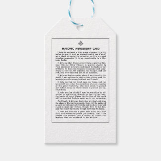 masoniccard gift tags