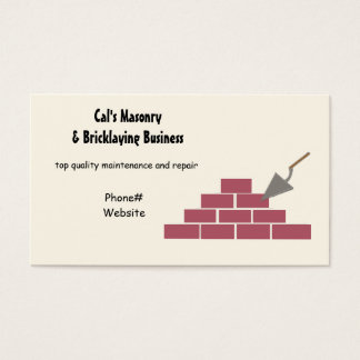 Masonry and Bricklaying Services Business Card