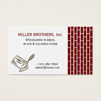 MASONRY Brick Construction Builder Business Card