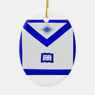 Masons Chaplain Apron Ceramic Ornament