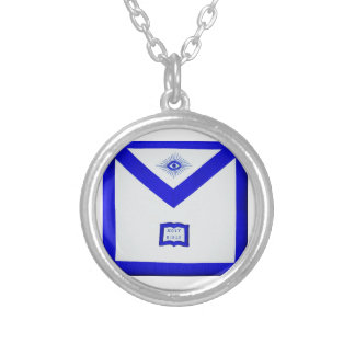 Masons Chaplain Apron Silver Plated Necklace