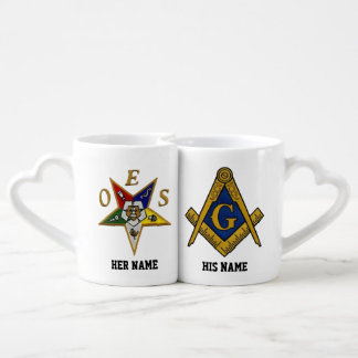 MASONS  EASTERN STAR CUSTOM LOVERS MUGS