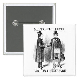 Masons parting on the square 2 inch square button