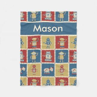 Mason's Personalized Robot Blanket