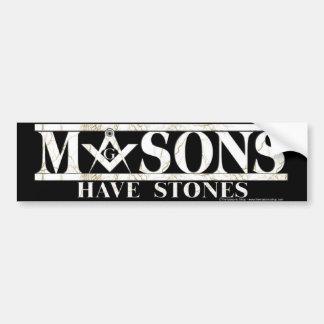 Masons Stones Bumper Sticker