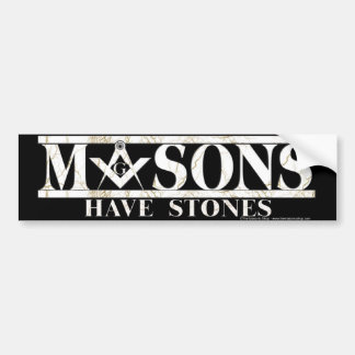 Masons Stones Bumper Stickers