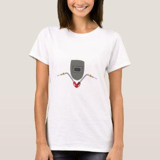 Masque et torche de soudure t-shirt