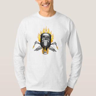 Masque flamboyant de soudeuse de crâne t-shirt