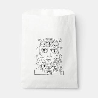 Masquerade Alien Lollipop Line Art Design Favour Bag