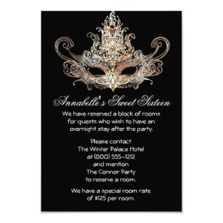 Masquerade Ball Hotel Accommodations Cards