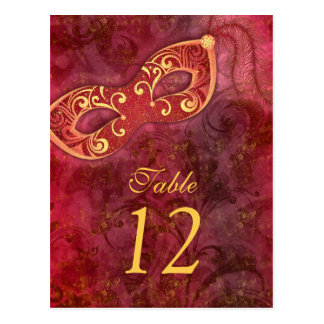 Masquerade Ball Mardi Gras Wedding Table Cards